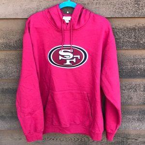 NFL TEAM APPAREL Shirts - Men's San Francisco 49er Red Hoodie Sweatshirt XL